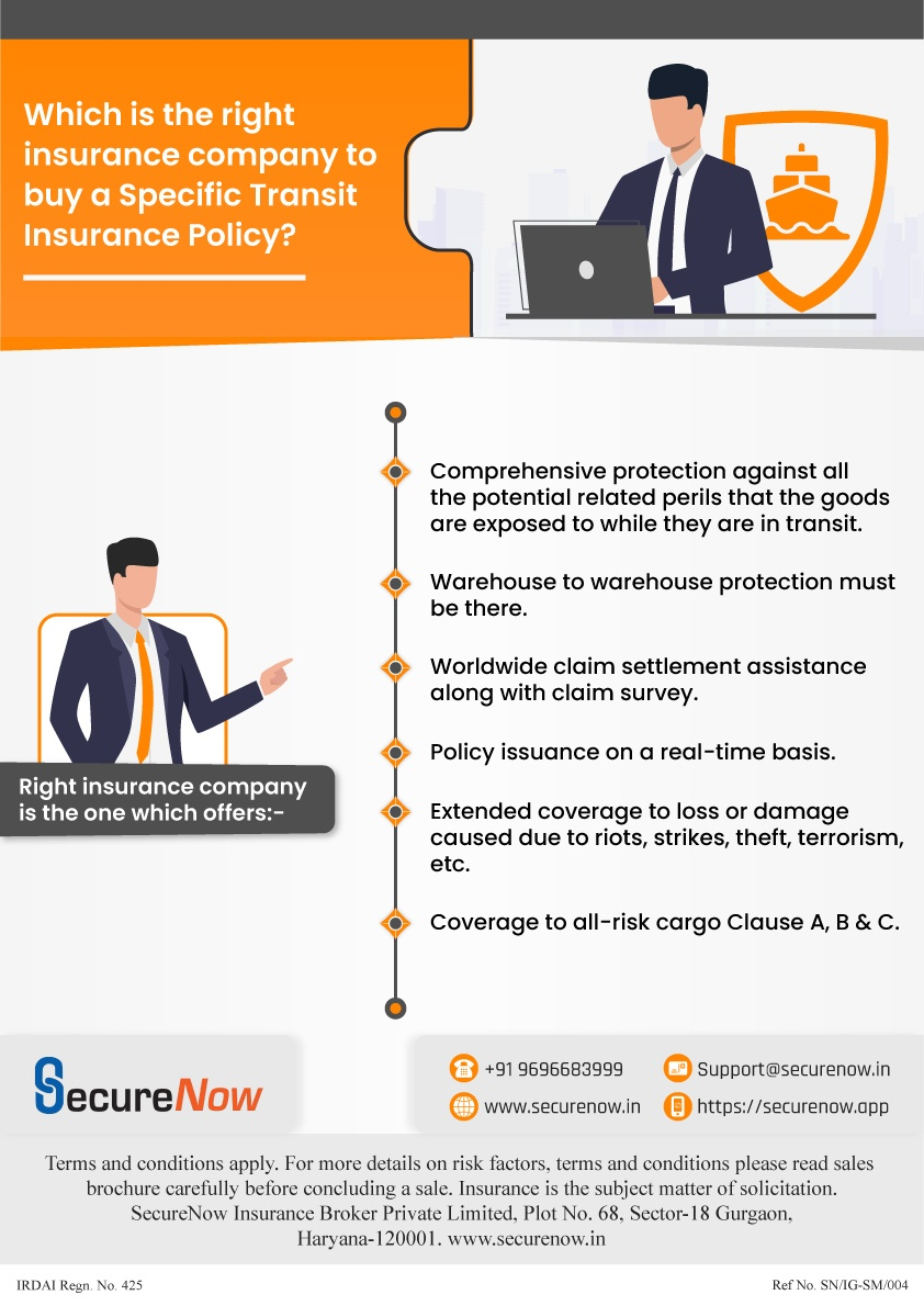 The infographic explains how to select the right insurance company to buy specific transit insurance policy. Know more.