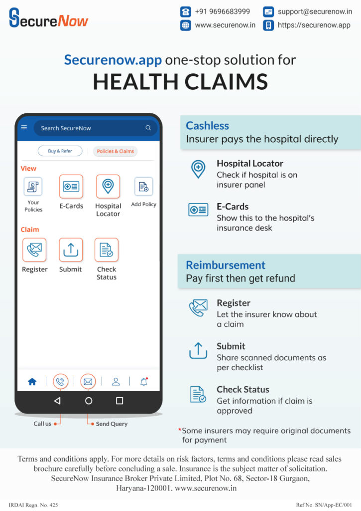 One stop solution for Health claims - SecureNow App